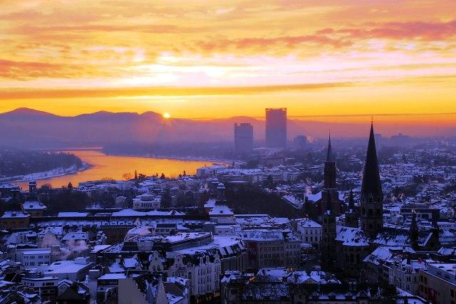 foto: zonsopgang in Bonn