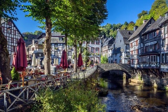 foto: Historische centrum van Monschau in de Eifel