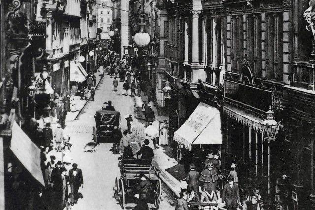 De Hohe Straße in 1895