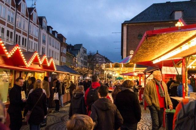 Kerst op de Marktplatz van Düsseldorf