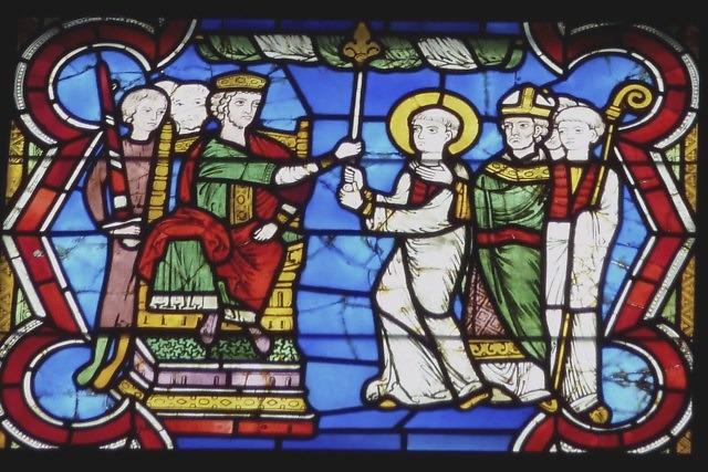 Kunibert wordt ingewijd als bisschop van Keulen