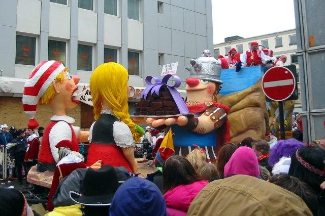 Het jaarlijkse carnaval van Keulen