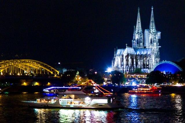 Verlichting tijdens de Kölner Lichter
