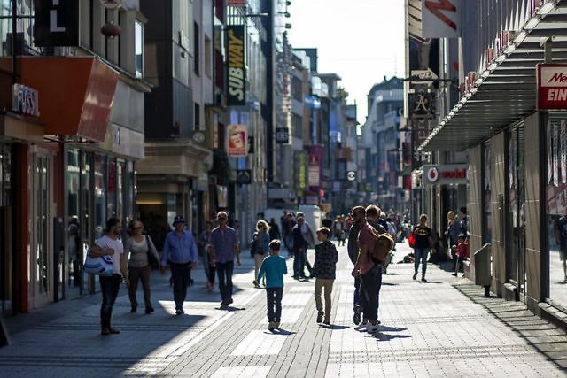 Winkelstraat in Keulen