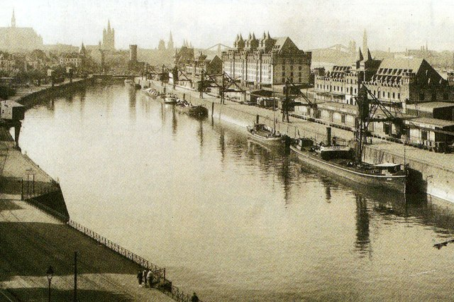 De Rheinauhafen in 1898