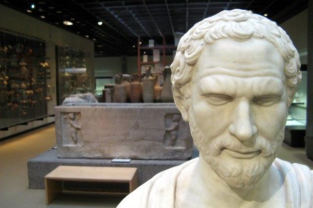 foto: tentoonstelling in Romeinse-Germaans museum van Keulen