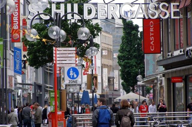 foto: Schildergasse vanaf de Neumarkt
