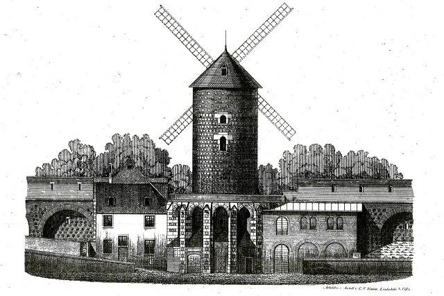 Tekening van de Ulrepforte uit 1882